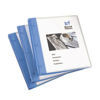 Avery 17670 Blue Flexi-View Binder with 1/2 inch Round Rings