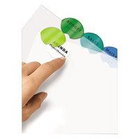 Avery 11201 Style Edge Translucent Plastic 8-Tab Multi-Color Insertable Dividers