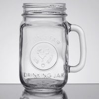 Libbey 97085 16 oz. County Fair Drinking Jar / Mason Jar with Handle - 12/Case