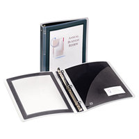 Avery 17637 Black Flexi-View Binder With 1 1/2 inch Round Rings