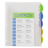Avery 11292 Style Edge Translucent Plastic 5-Tab Multi-Color Insertable Dividers with Pockets