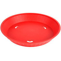 Choice 12 inch Round Red Plastic Diner Platter   - 12/Pack