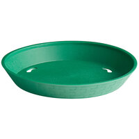 Choice 10 1/2 inch Round Green Plastic Platter / Fast Food Basket   - 12/Pack