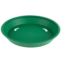 Choice 9 inch Round Green Plastic Diner Platter   - 12/Pack