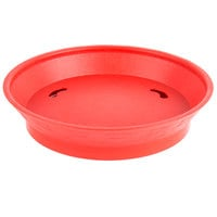 Choice 9 inch Round Red Plastic Diner Platter with Base - 12/Pack