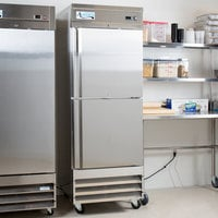 Avantco SS-1F-2-HC 29 inch Stainless Steel Solid Half Door Reach-In Freezer