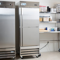 Avantco SS-1R-2-HC 29 inch Stainless Steel Solid Half Door Reach-In Refrigerator