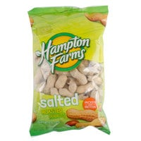 Hampton Farms 0.5 lb. Roasted & Salted In-Shell Peanuts - 36/Case