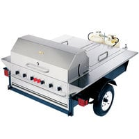 Crown Verity TG-1 69 inch Tailgate Grill with Beverage Compartments