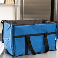 Choice Insulated Food Delivery Bag / Pan Carrier, Blue Nylon, 23 inch x 13 inch x 15 inch