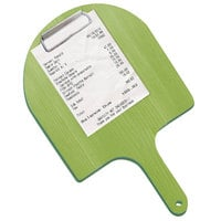 Menu Solutions WDPPCP 5 inch x 9 inch Customizable Lime Pizza Peel Menu Clipboard / Check Presenter