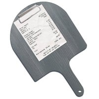 Menu Solutions WDPPCP 5 inch x 9 inch Customizable Ash Pizza Peel Menu Clipboard / Check Presenter