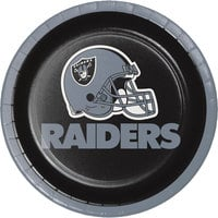Creative Converting 419523 Las Vegas Raiders 7 inch Luncheon Paper Plate - 96/Case