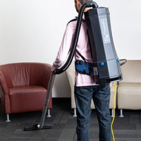 Lavex Janitorial 10 Qt. Backpack Vacuum with HEPA Filtration and 8-Piece Tool Kit