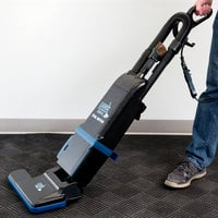 Lavex Janitorial 15 inch Dual Motor Upright Bagged Vacuum Cleaner with HEPA Filtration