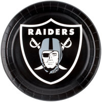 Creative Converting 429523 Las Vegas Raiders 9 inch Paper Dinner Plate - 96/Case