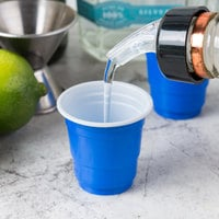 Choice 2 oz. Blue Plastic Shot Cup - 1000/Case