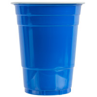 Choice 16 oz. Blue Plastic Cup - 1000/Case