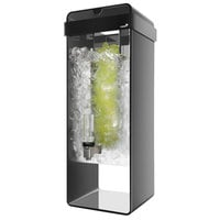 Rosseto LD154 3 Gallon Black Acrylic Beverage Dispenser with Infusion Chamber