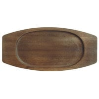 World Tableware CIS-18TR 7 7/8 inch x 5 3/4 inch Cedar Plank Wood Underliner with Natural Wood-Grain Finish - 12/Case