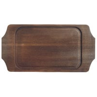 World Tableware CIS-19TR 14 1/8 inch x 7 1/4 inch Cedar Plank Wood Underliner with Natural Wood-Grain Finish - 6/Case