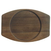 World Tableware CIS-15TR 7 7/8 inch x 7 inch Cedar Plank Wood Underliner with Natural Wood-Grain Finish - 12/Case