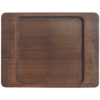 World Tableware CIS-16TR 7 7/8 inch x 6 1/8 inch Cedar Plank Wood Underliner with Natural Wood-Grain Finish - 12/Case