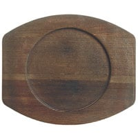 World Tableware CIS-17TR 8 1/2 inch x 7 inch Cedar Plank Wood Underliner with Natural Wood-Grain Finish - 6/Case