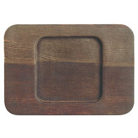 World Tableware CIS-26TR 5 1/2 inch x 4 inch Cedar Plank Wood Underliner with Natural Wood-Grain Finish - 12/Case