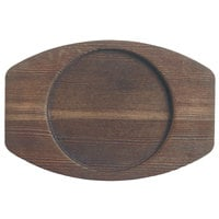 World Tableware CIS-25TR 6 1/4 inch x 4 3/8 inch Cedar Plank Wood Underliner with Natural Wood-Grain Finish - 12/Case