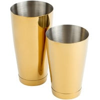 Barfly M37009GD 28 oz. & 18 oz. Gold-Plated 2-Piece Boston Cocktail Shaker
