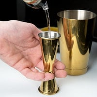 Barfly M37005GD 1 oz. & 2 oz. Gold-Plated Japanese Style Jigger