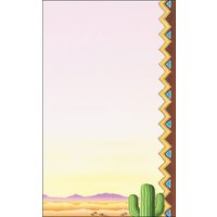 8 1/2 inch x 11 inch Menu Paper - Southwest Themed Cactus Design Right Insert - 100/Pack