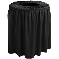 Snap Drape 5412WC35F014 Wyndham 32 Gallon Black Shirred Pleat Trash Can Cover
