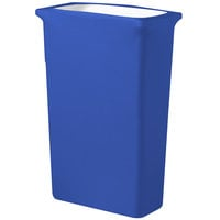 Snap Drape CN420WC23572 Contour Cover 23 Gallon Slim Jim Royal Blue Spandex Trash Can Cover