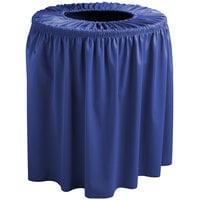 Snap Drape 5412WC55F572 Wyndham 55 Gallon Royal Blue Shirred Pleat Trash Can Cover