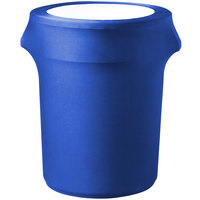 Snap Drape CN420WC32572 Contour Cover 32 Gallon Royal Blue Spandex Trash Can Cover
