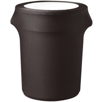 Snap Drape CN420WC55515 Contour Cover 55 Gallon Chocolate Spandex Trash Can Cover