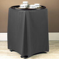 Snap Drape 5SC412900065512 Wyndham 19 inch x 17 inch x 30 inch Charcoal Tray Stand Cover