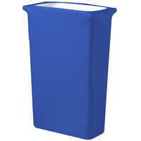 Snap Drape CN420WC16572 Contour Cover 16 Gallon Slim Jim Royal Blue Spandex Trash Can Cover