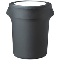 Snap Drape CN420WC32512 Contour Cover 32 Gallon Charcoal Spandex Trash Can Cover