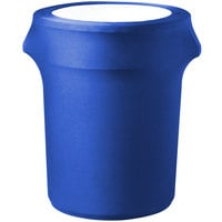 Snap Drape CN420WC44572 Contour Cover 44 Gallon Royal Blue Spandex Trash Can Cover