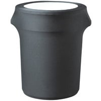 Snap Drape CN420WC44512 Contour Cover 44 Gallon Charcoal Spandex Trash Can Cover