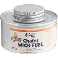 Choice 4 Hour Wick Chafing Dish Fuel with Safety Twist Cap - 12/Pack