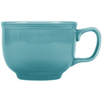 Fiesta Tableware from Steelite International HL149107 Turquoise 18 oz. Jumbo China Cup - 12/Case