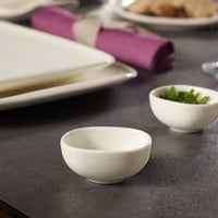 Villeroy & Boch 10-3452-3932 Urban Nature 1.5 oz. White Premium Porcelain Dip Bowl   - 4/Case