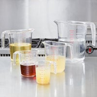 Choice 5-Piece Clear Polycarbonate Measuring Cup Set