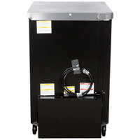 Beverage-Air BB24HC-1-G-B 24 inch Black Back Bar Refrigerator with 1 Glass Door - 115V
