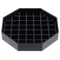 Choice 4 inch Black Octagonal Drip Tray with Removable Grate