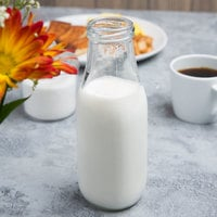 Acopa 14 oz. Glass Milk Bottle - 12/Case